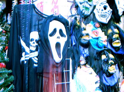 圣诞节变鬼节 恐怖面具成海口圣诞礼品市场新宠