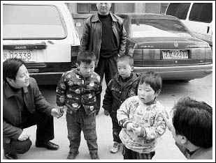 儿童 西安/被绑架的3名儿童。
