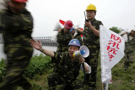 上海举行防汛防台风大演习 2