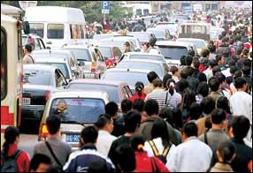 香山红叶节遭遇堵车堵车难耐停车更麻烦(图)