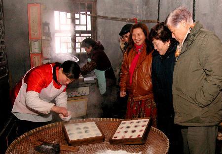 图文:台湾游客参观浙江嘉善西塘古镇