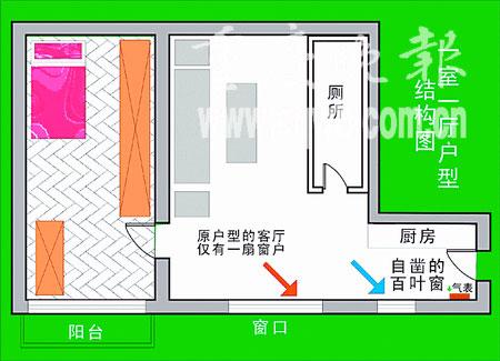 单元房结构图