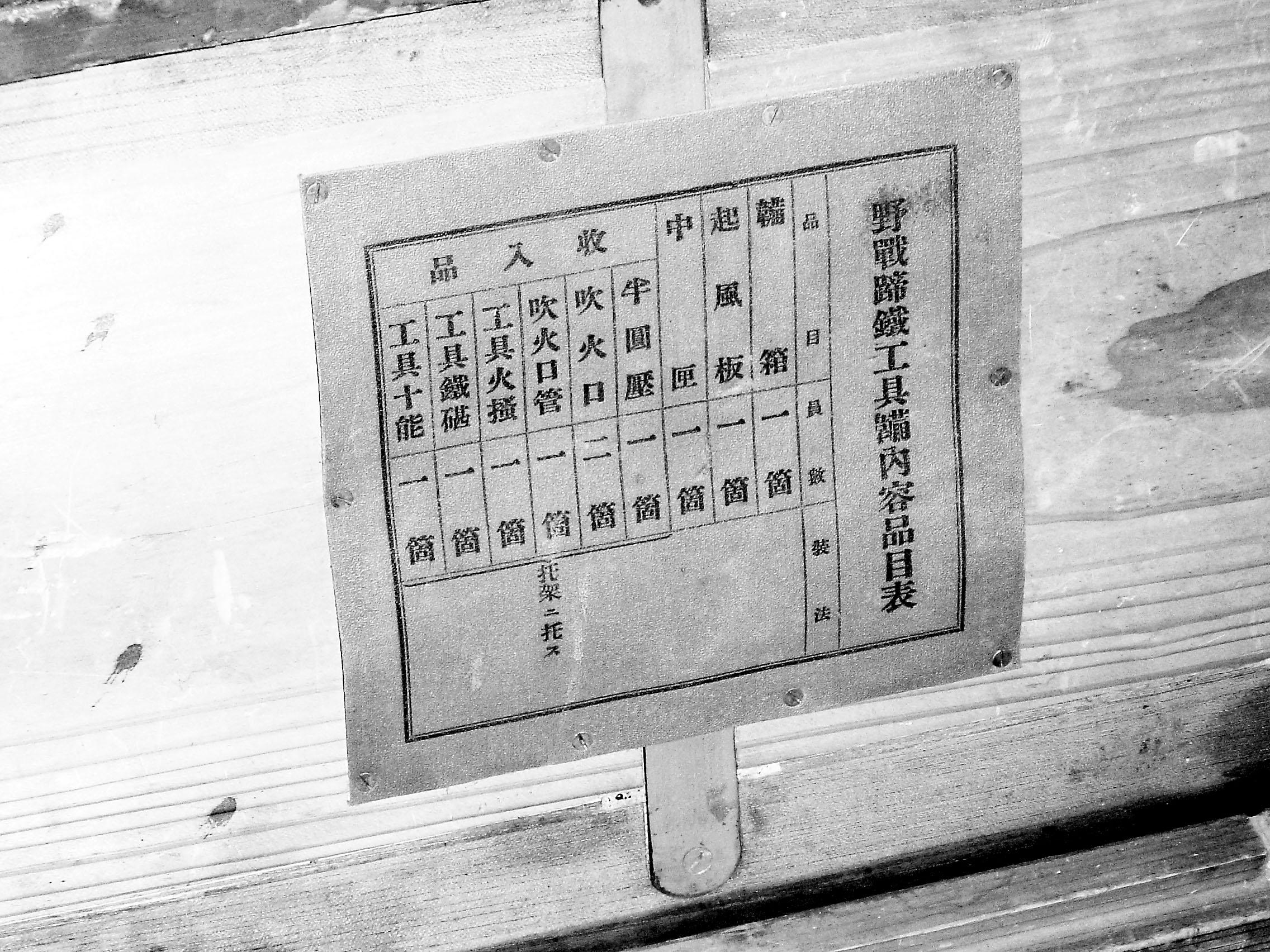 下图:工具箱里铭牌上标明工具品目.姜樾摄图片