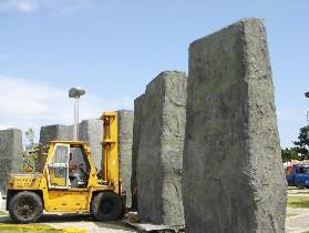 台湾花莲设世界石雕遗址展将树立数十石柱