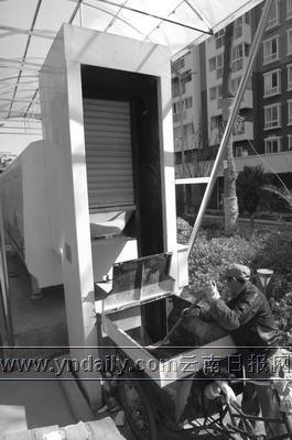 昆明有了密闭式垃圾压缩储存机