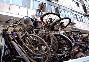 200余辆无主自行车被集中销毁情趣冒图片