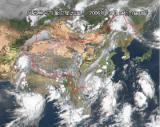 派比安中心4日15时进入南宁市邕宁区境内(图)