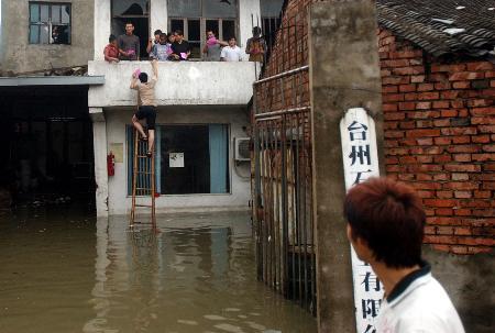 图文:浙江开展台风后的卫生防疫工作
