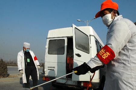 图文:宁夏银川禽流感疫区解除封锁
