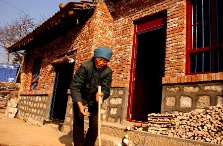 图文:[社会](3)陕西受灾群众获救助