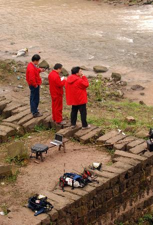 图文:重庆开县井渗漏事故现场空气河水质量正常