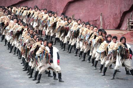 图文:[社会](2)《印象・丽江》雪山篇正式公演