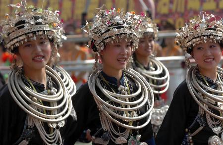 图文:黔东南苗族侗族自治州庆祝建州50周年(1)