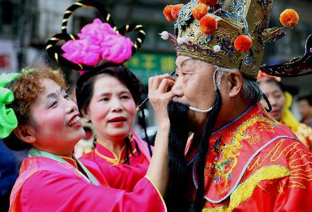 图文:(1)西安老人欢度重阳节