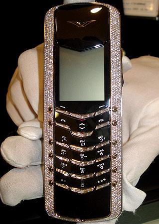 图文:豪华手机价值88万镶嵌钻石1000粒