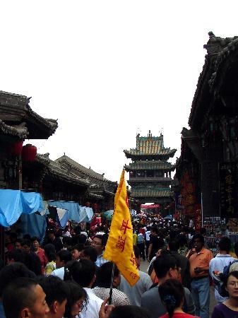 图文:山西平遥古城明清街人潮拥挤