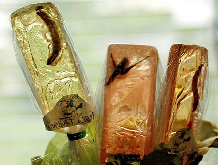 组图:巴拿马人发明虫子棒棒糖