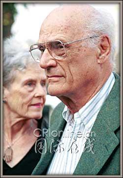 米勒与第三任妻子莫拉什