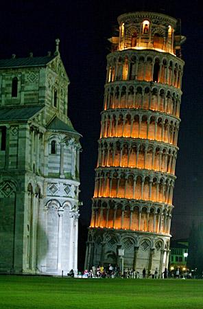 意大利著名的比萨斜塔