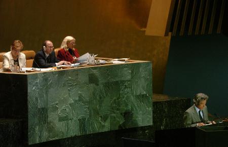 图文:小泉称日本希望成为安理会常任理事国(2)