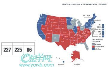 2004美国大选倒数1天:新注册选民多挺克里(图)
