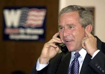 图文:布什抵竞选活动最后一站