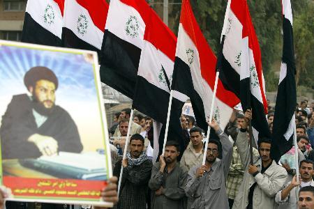 图文:伊拉克什叶派穆斯林游行(2)