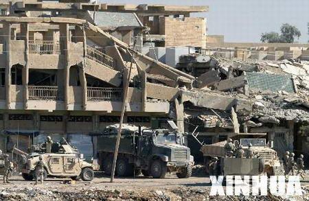 组图:费卢杰战后到处是废墟
