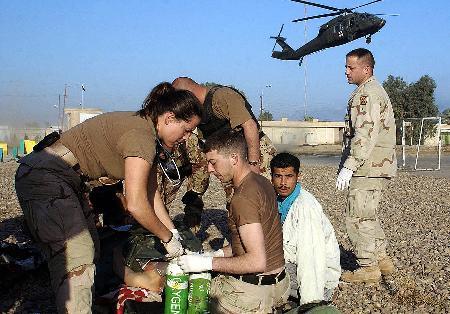 图文:多名美军士兵在伊拉克遇袭身亡(1)