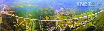 全长近2500米世界第一高桥横空出世(图)