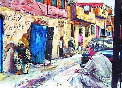 美国画家在伊拉克写生美化战争招来批评(组图)