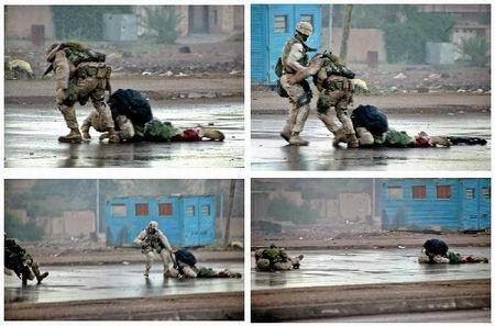 组图:美军士兵在费卢杰拯救受伤同伴全程回放
