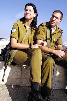 图文:浪漫的以色列国防军士兵