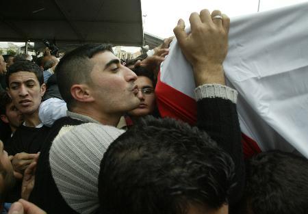 图文:遇害的黎巴嫩前总理哈里里下葬