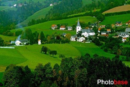 法国田园小镇手绘