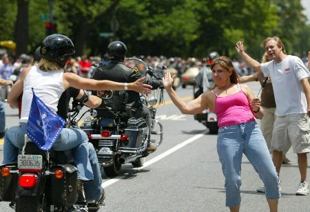 图文:华盛顿摩托车大游行(1)