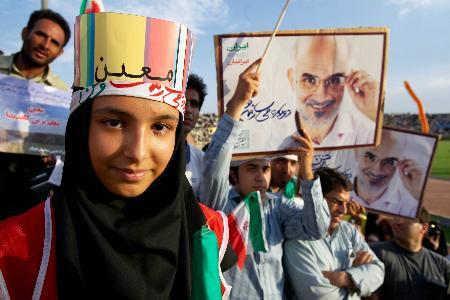 图文:穆因支持者在德黑兰举行大型集会(5)