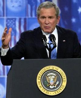 美国民意调查显示布什支持率跌至任内最低点