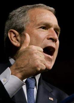 布什誓将伊拉克反恐战争进行到底拒绝提前撤军