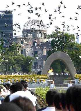 美国6日将首度公开轰炸广岛的录像片断(组图)