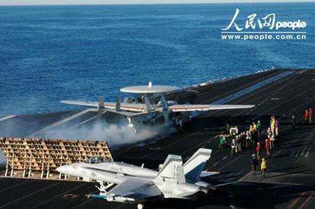 印度与美国共同派遣航空母舰参加演习(组图)