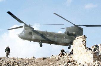 美军直升机在阿富汗坠毁5名机组人员丧生