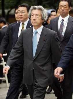 日本首相小泉今日再次参拜靖国神社(图)