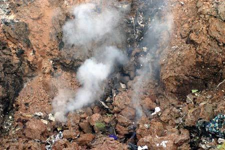 组图:尼日利亚客机坠毁117人遇难