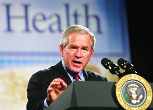 布什寻求71亿禽流感应急款政策瞄准三大目标