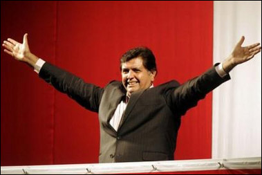 秘鲁前总统加西亚赢得总统大选(组图)