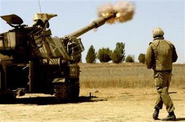 以色列军队炮轰加沙北部一座变电站被毁(组图)