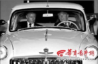 普京古董级伏尔加车内部全是豪华轿车零件