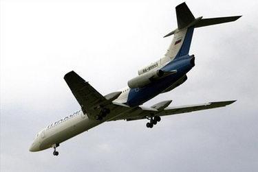 俄罗斯一架图-154客机在乌克兰东部坠毁