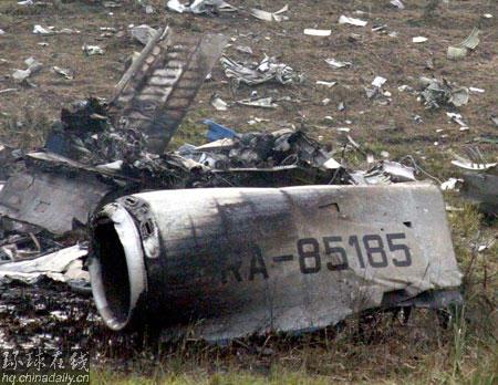 俄紧急事务部称失事客机上共载169人(组图)